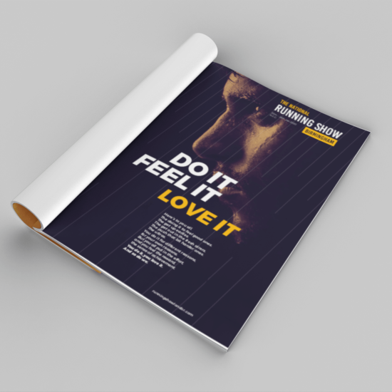 Foundry12 | Our Work | The Running Show Printed Advert