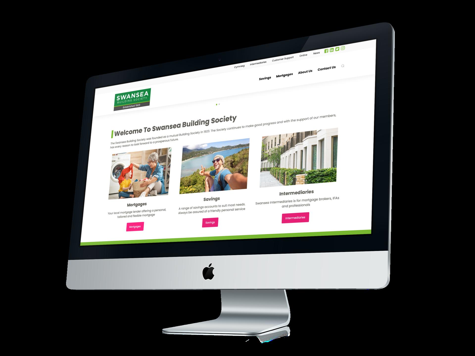 Foundry12 | Swansea Building Society website imac