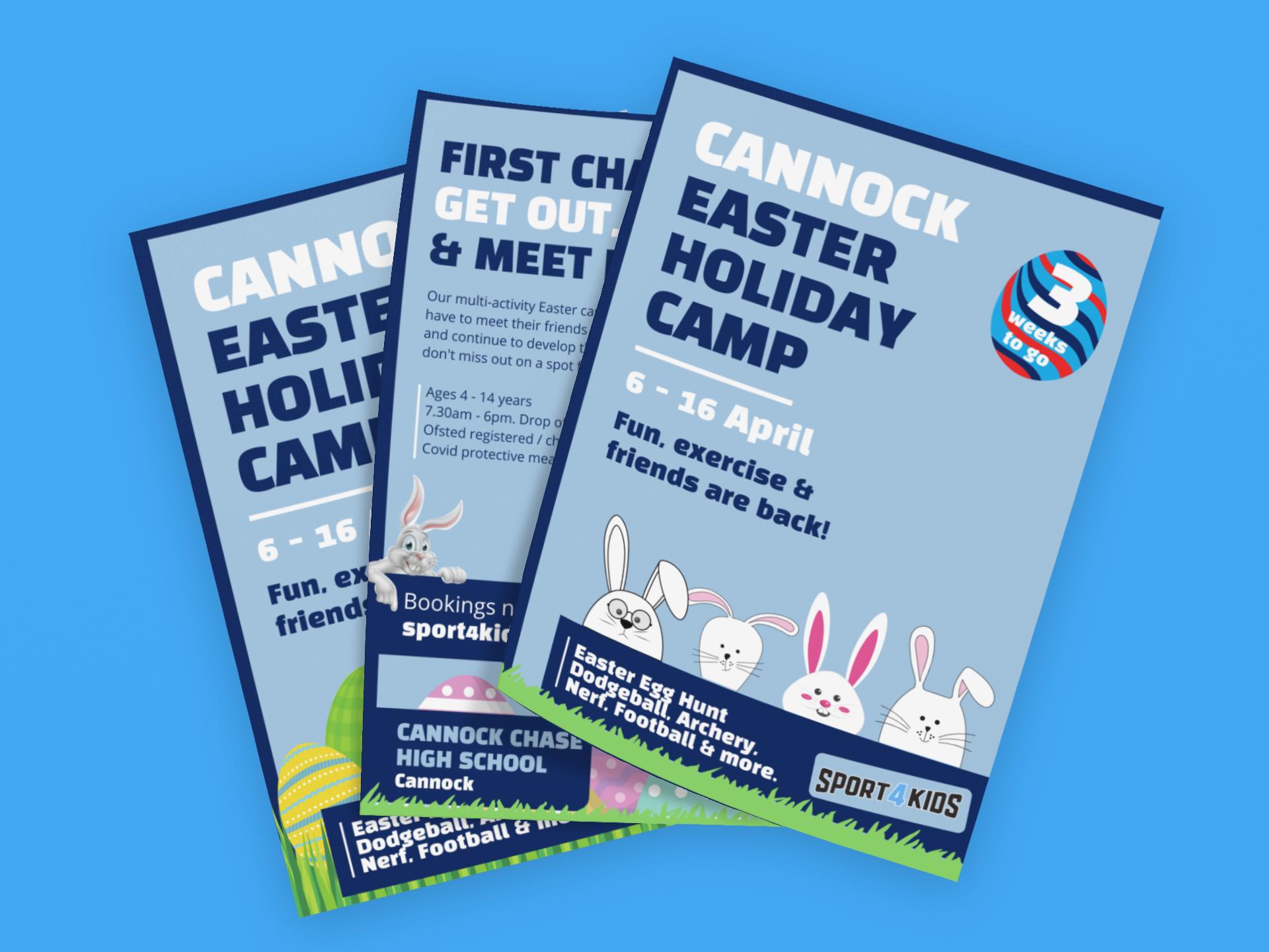 Foundry12 | Sport4Kids 3 x Easter flyer