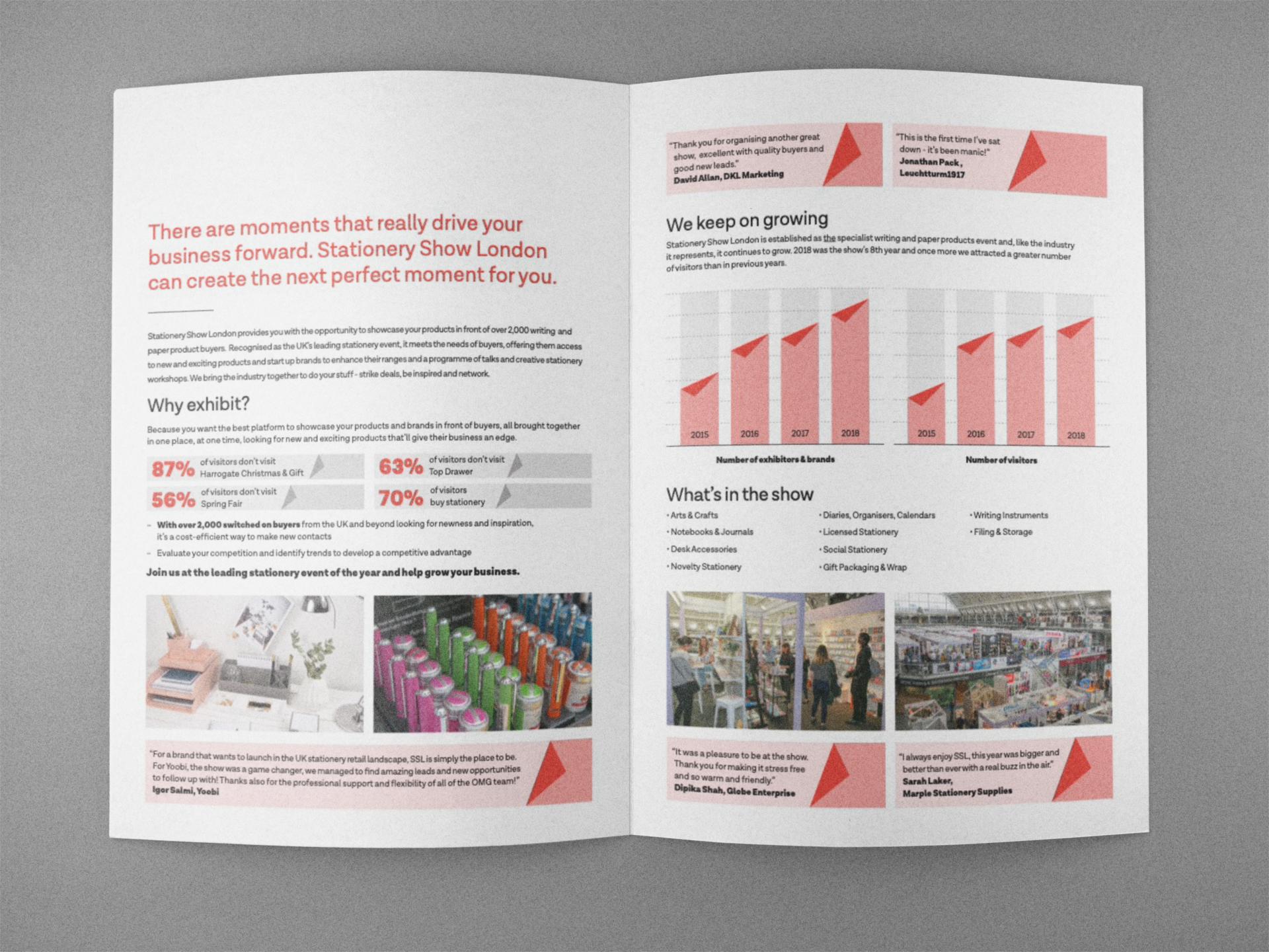 Foundry12 | Stationery Show brochure spread